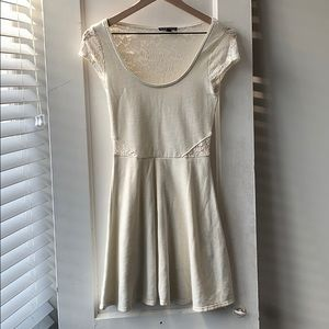 Off white dress with lace accents